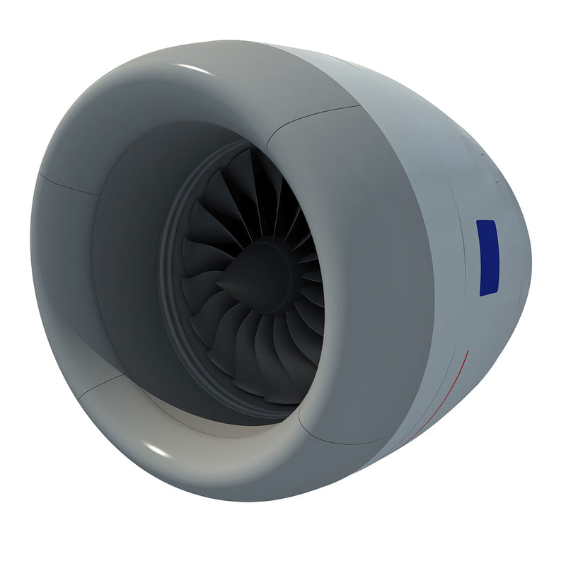 Aircraft Jet Turbofan Engine
