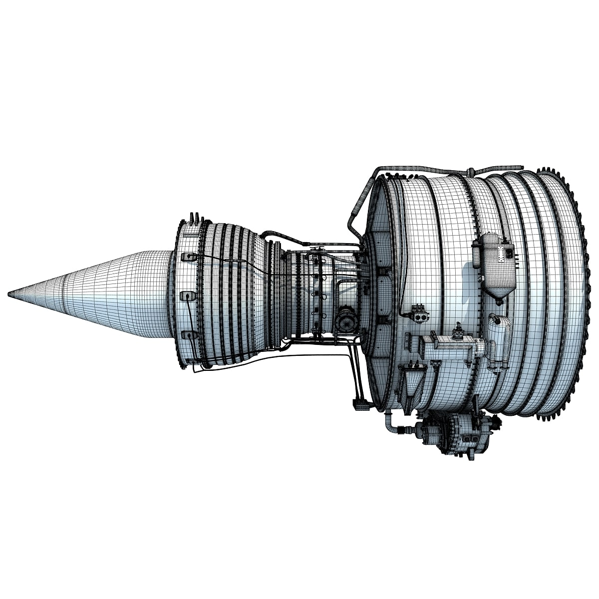 Aircraft Turbofan Engines Collection 3D Model