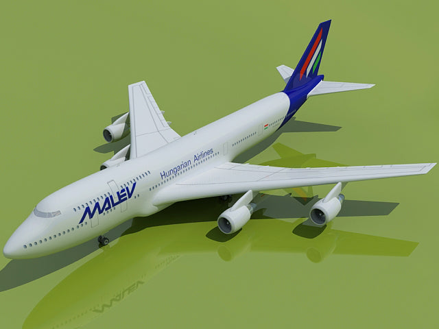 3D Aircraft with 21 Airline Textures