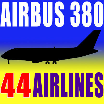 3D Airbus | 44 Airlines Textures