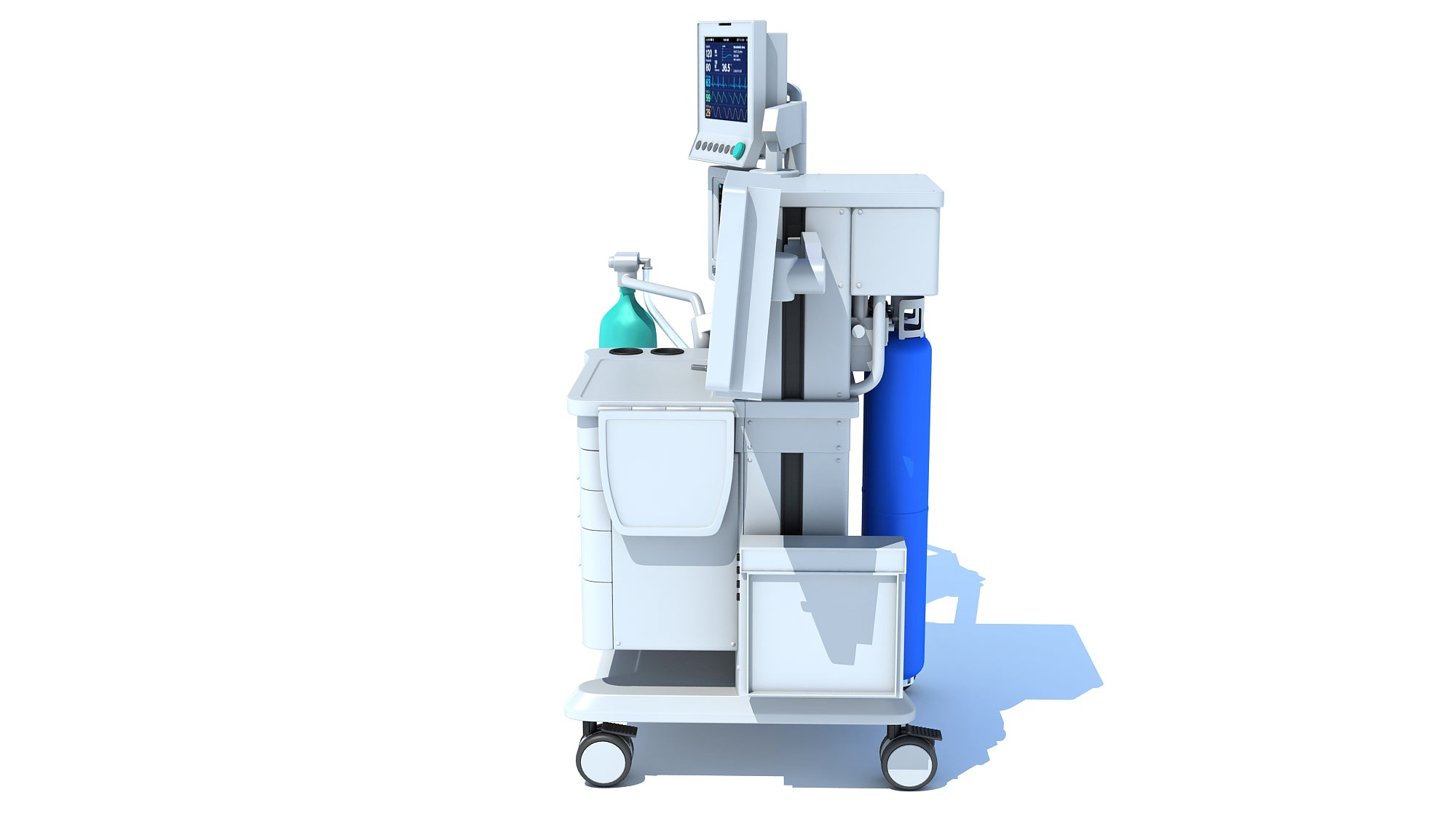 Anesthesia Respiratory Workstation Trolley