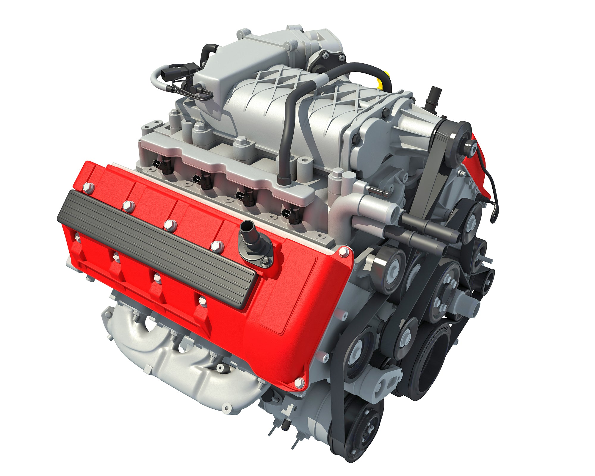 Animated V8 Engine