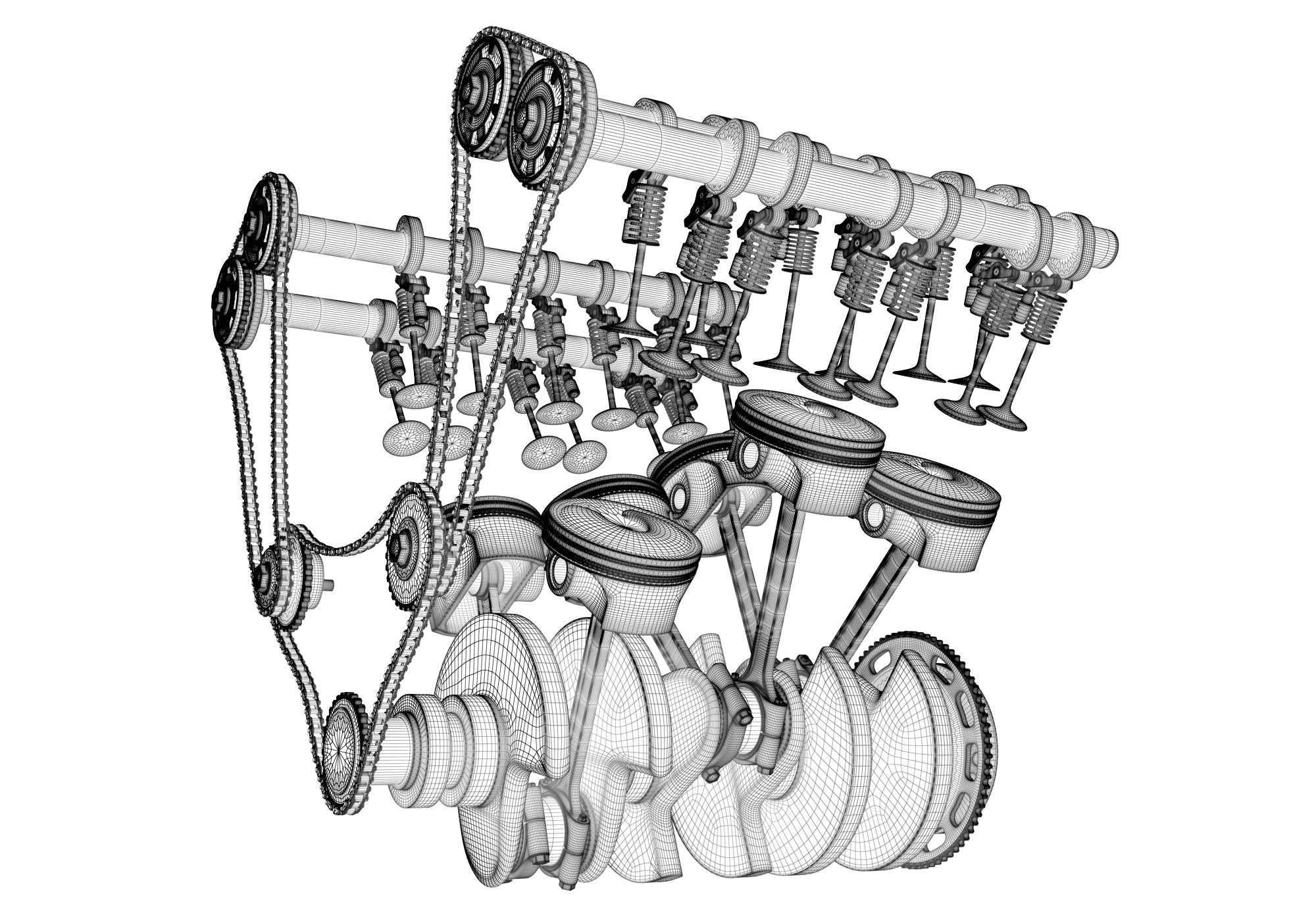 Cylinders Crankshaft Animation