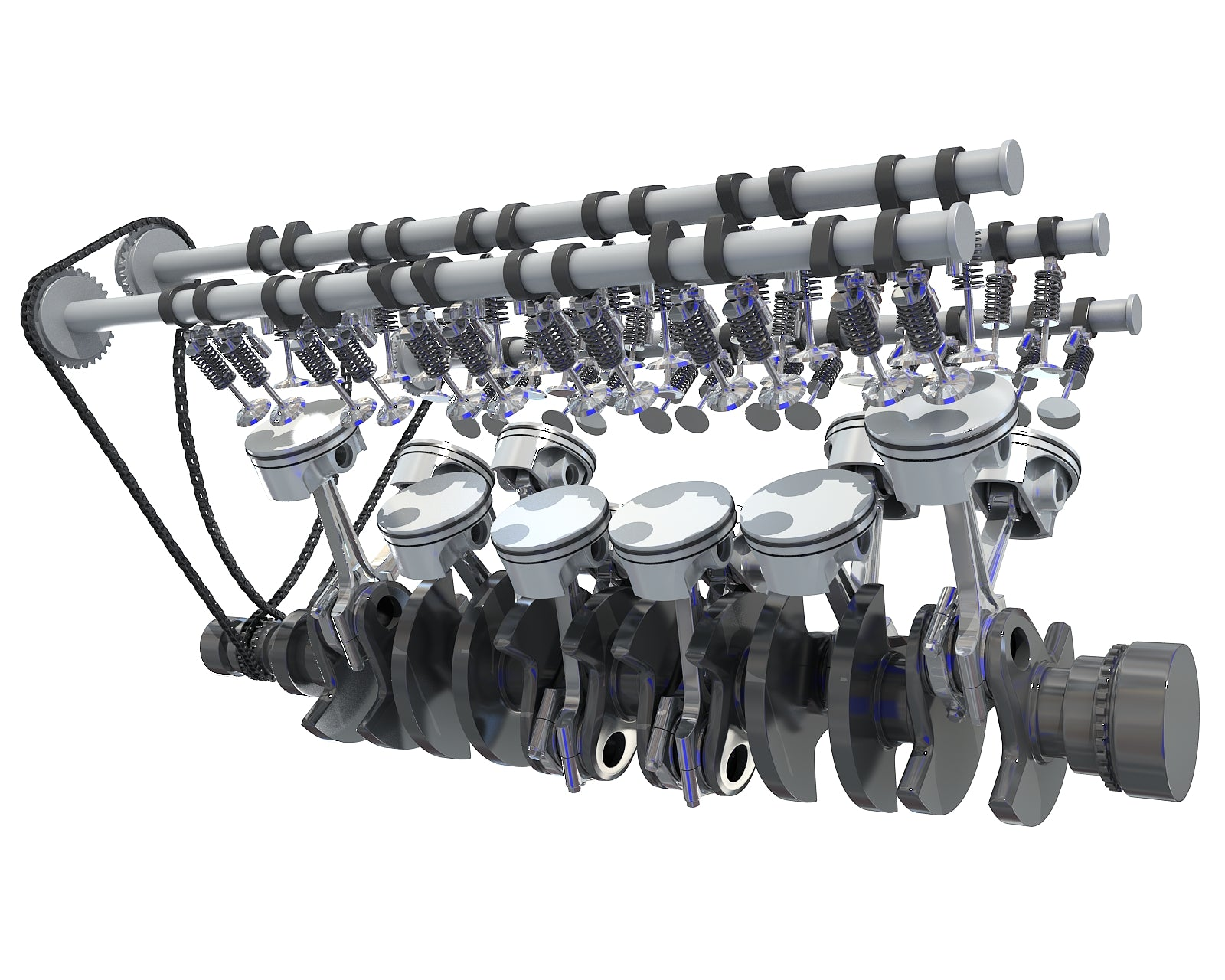 Animated V12 Engine