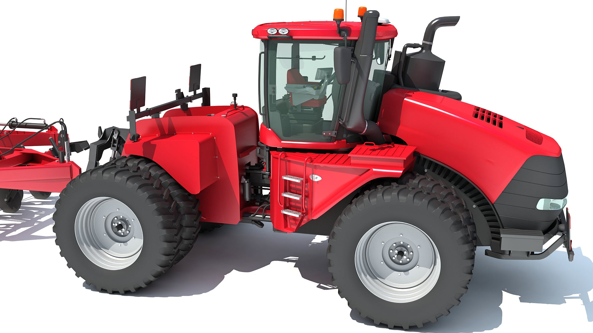 Articulated Tractor with Seed Drill