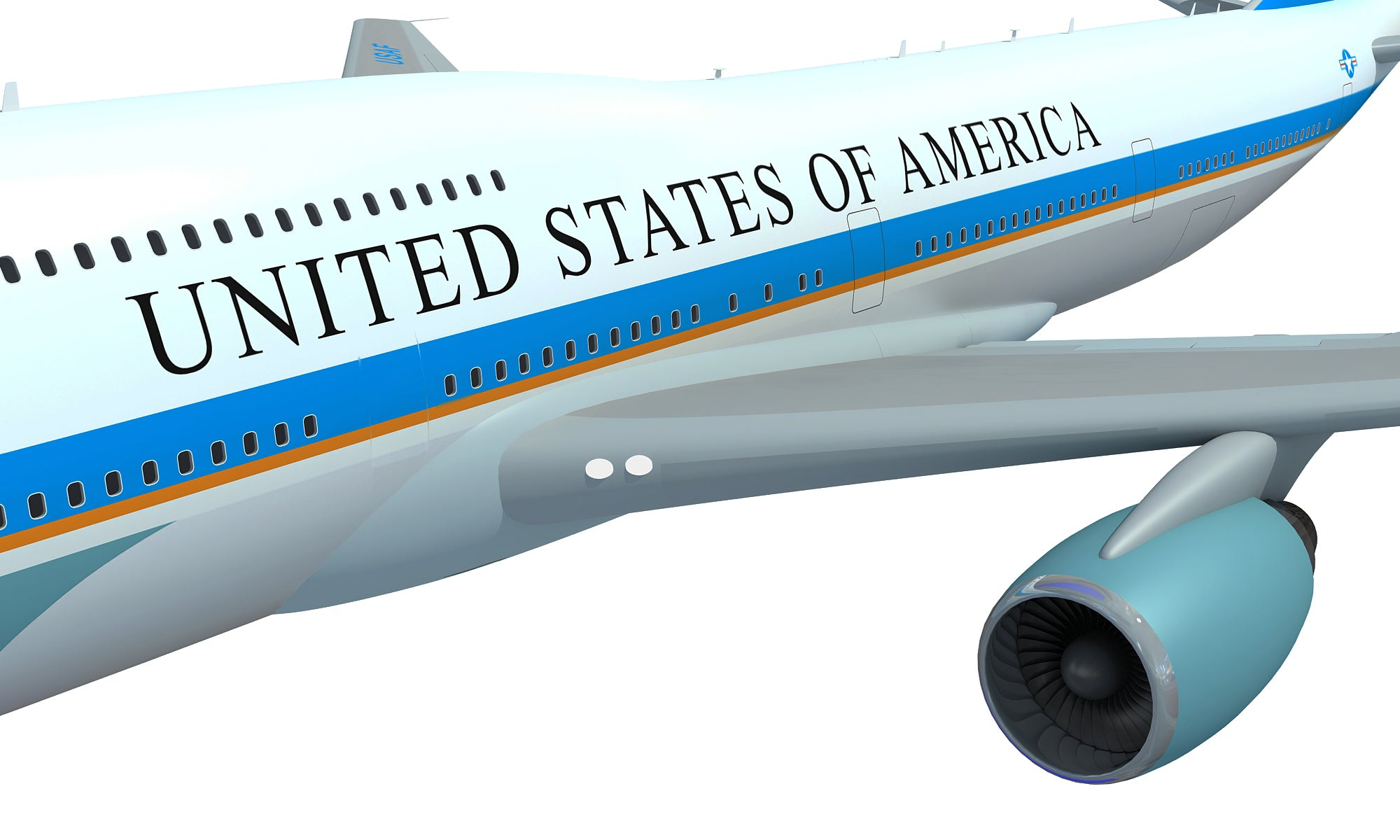 Air Force One Aerial Scene