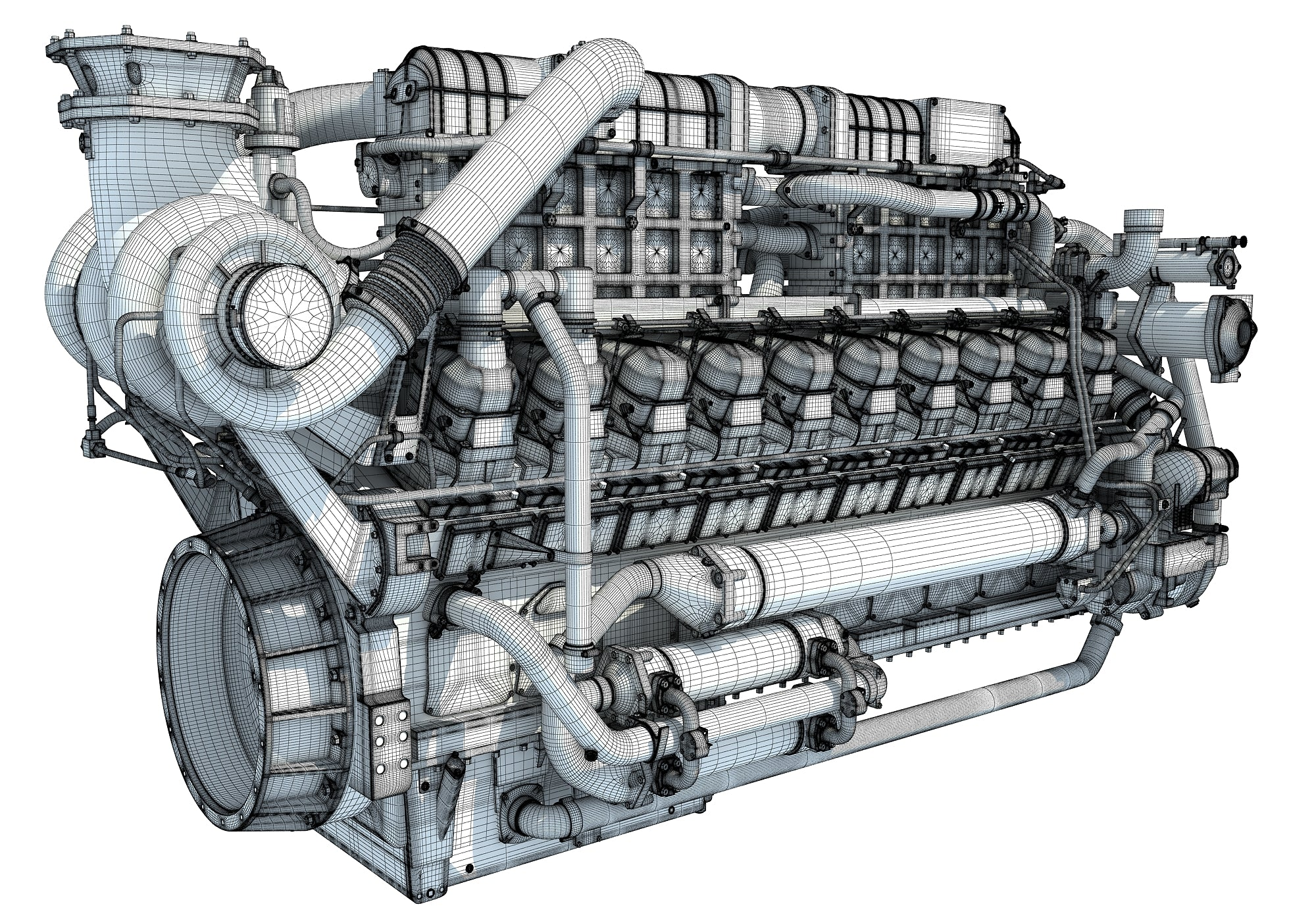 20 Cylinders Engine 3D Models