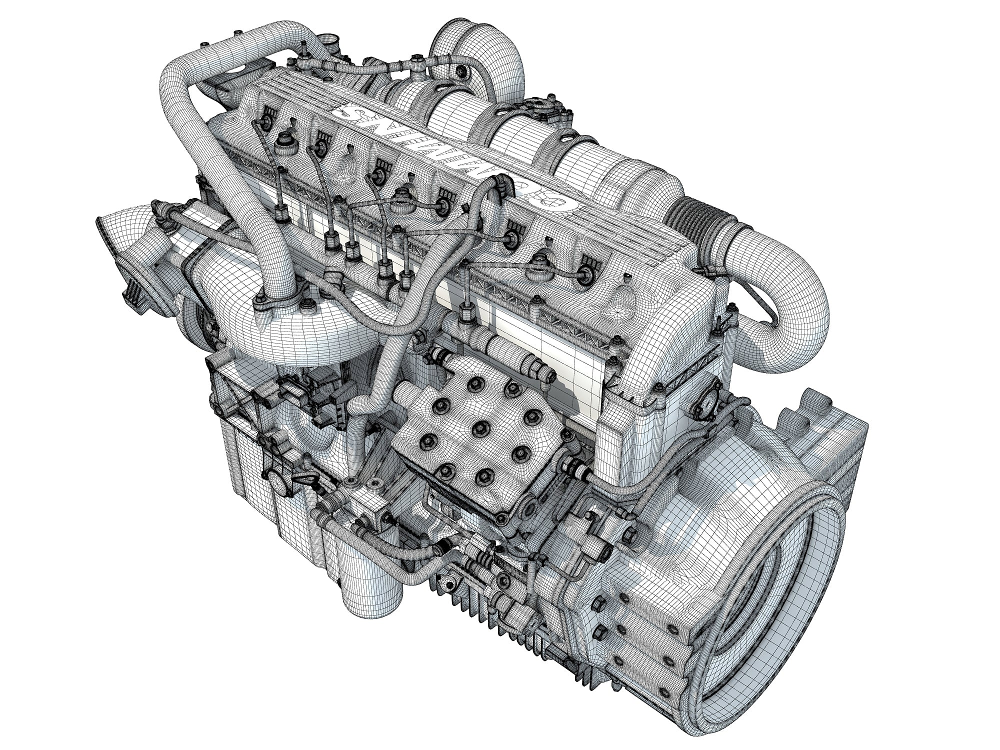 Cummins Engine 3D Models