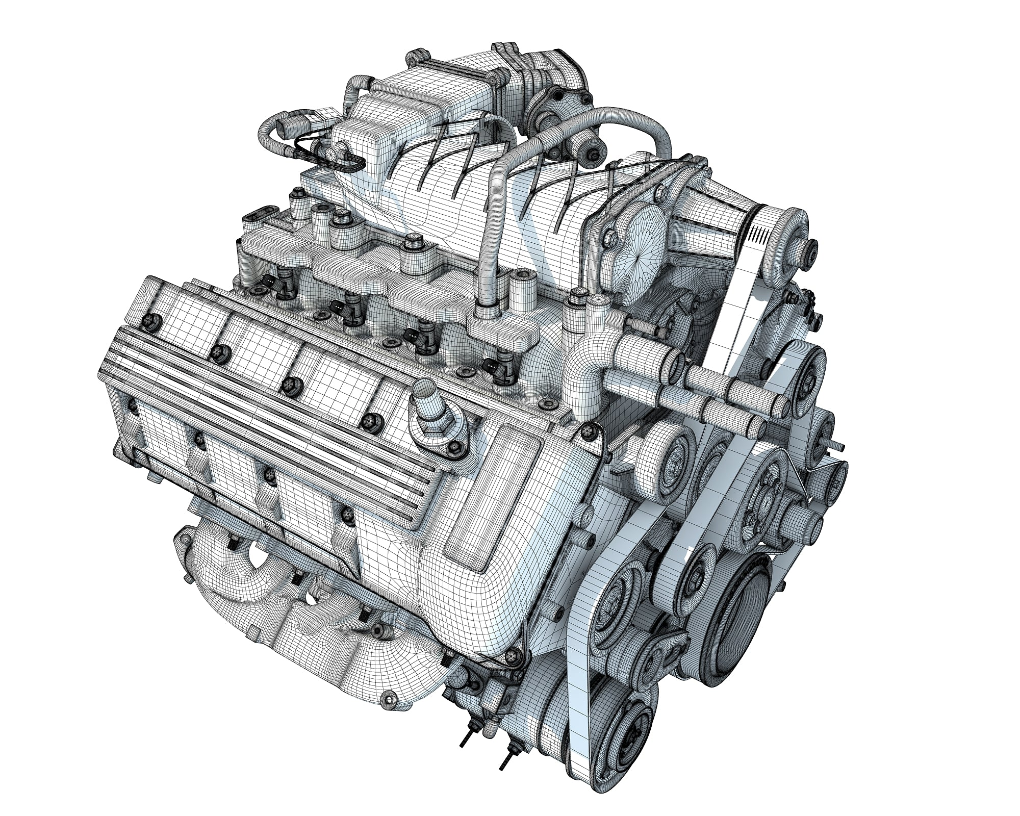 V8 Engine Cutaway Animation