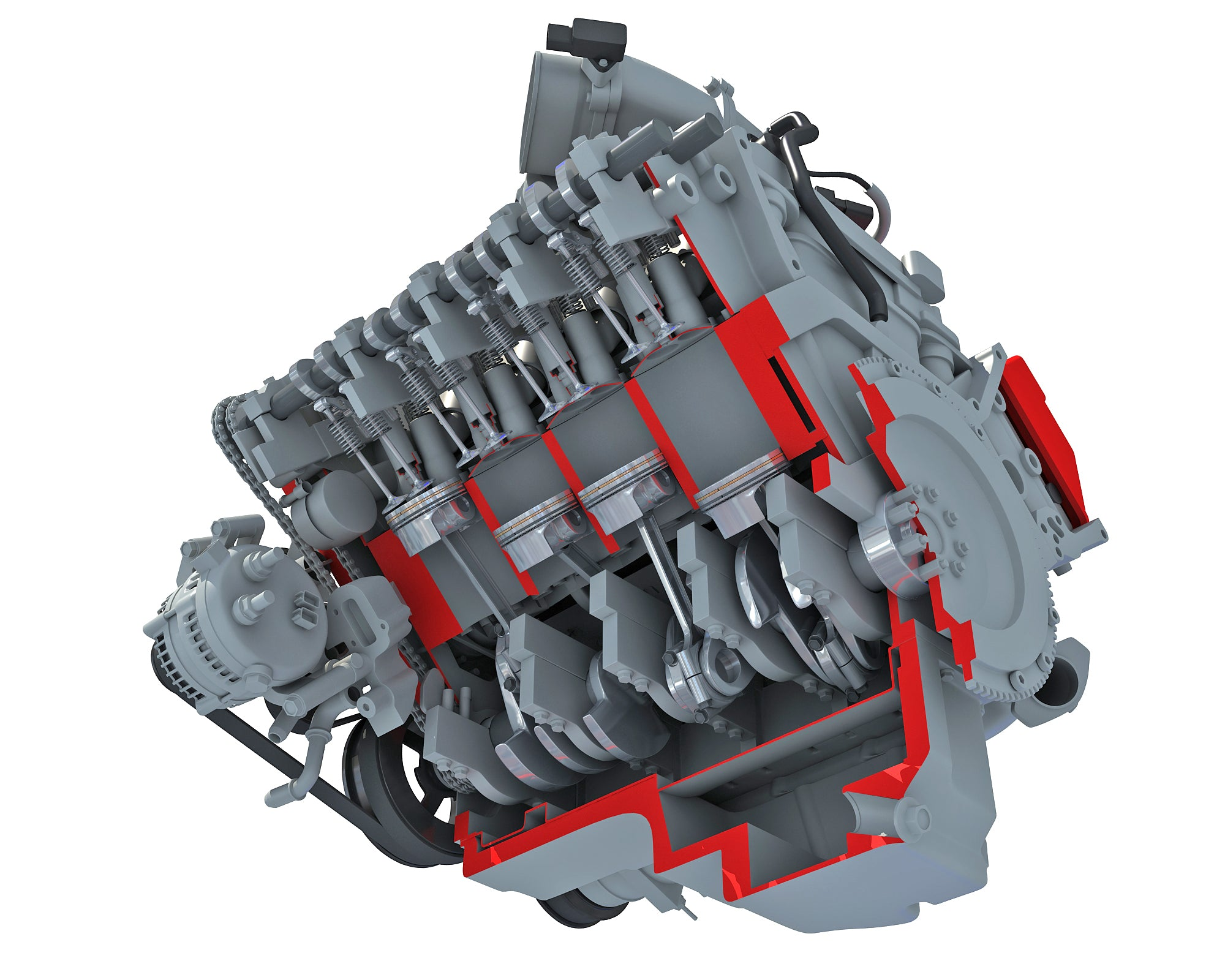 Engine Cutaway Animation
