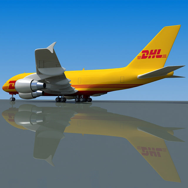 DHL Aircraft 3D Model