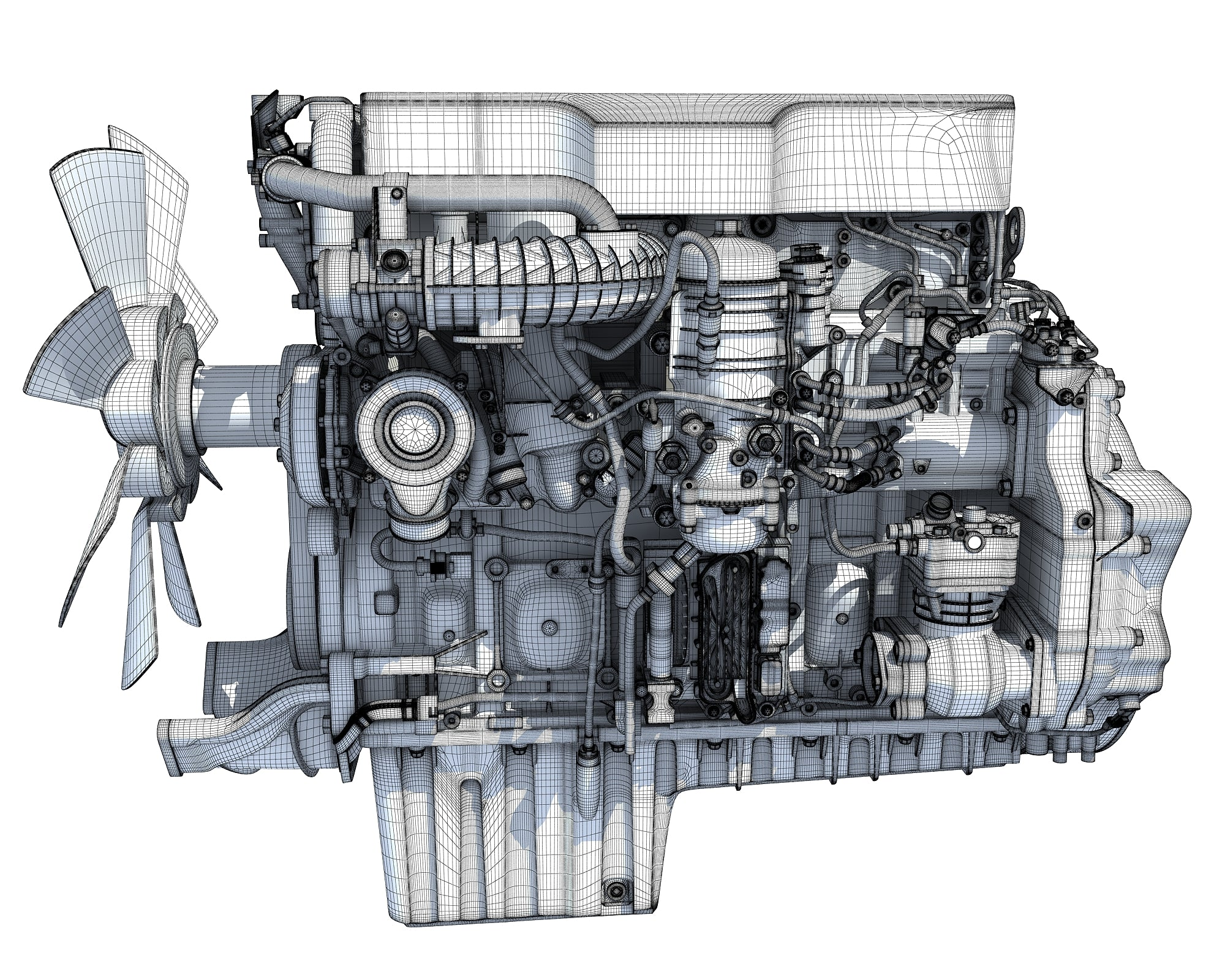 Truck Engine 3D Models