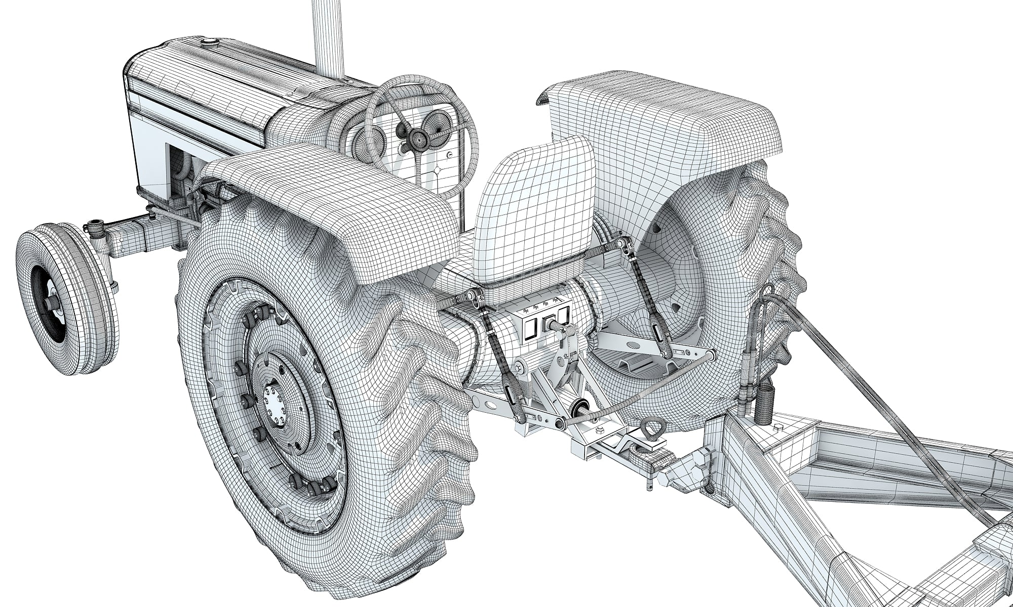 Disc Harrow Tractor 3D Models