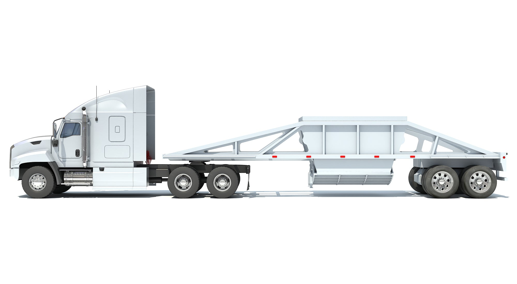 Truck with Bottom Dump Trailer