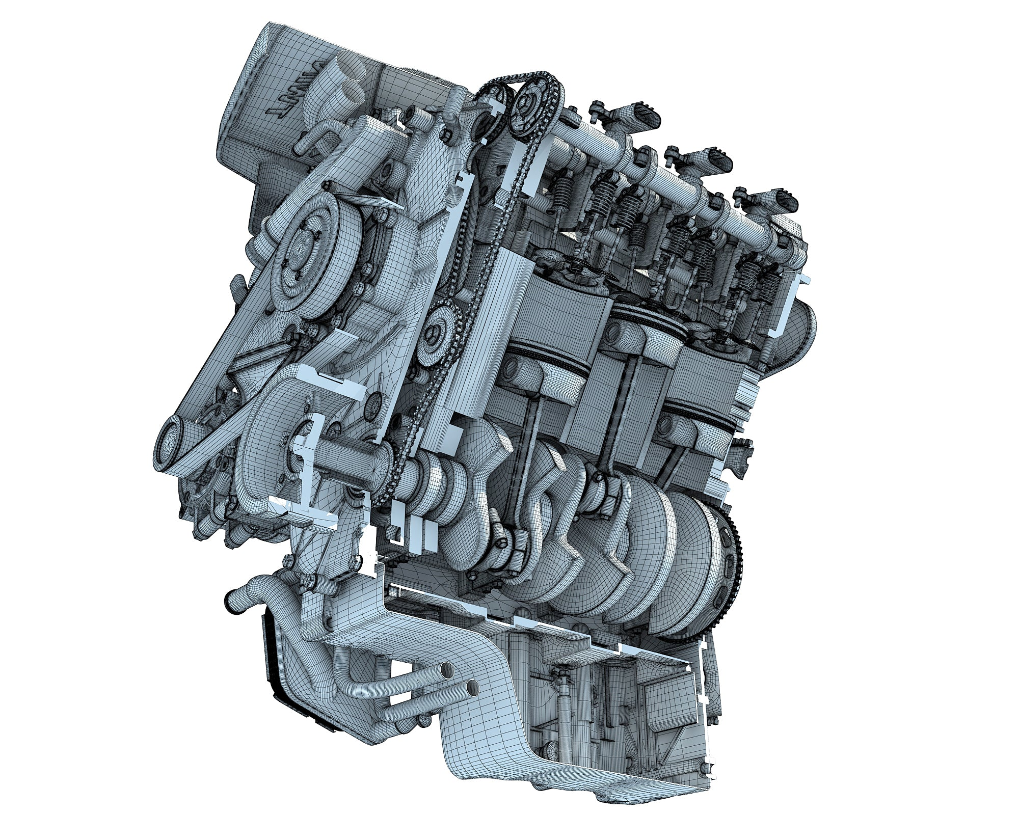 Sectioned Engine 3D Models