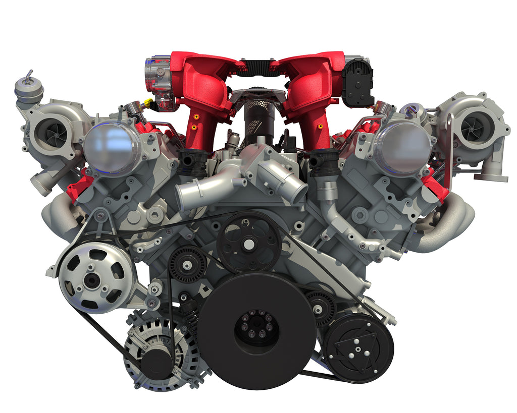 Turbocharged Engine 3D Model