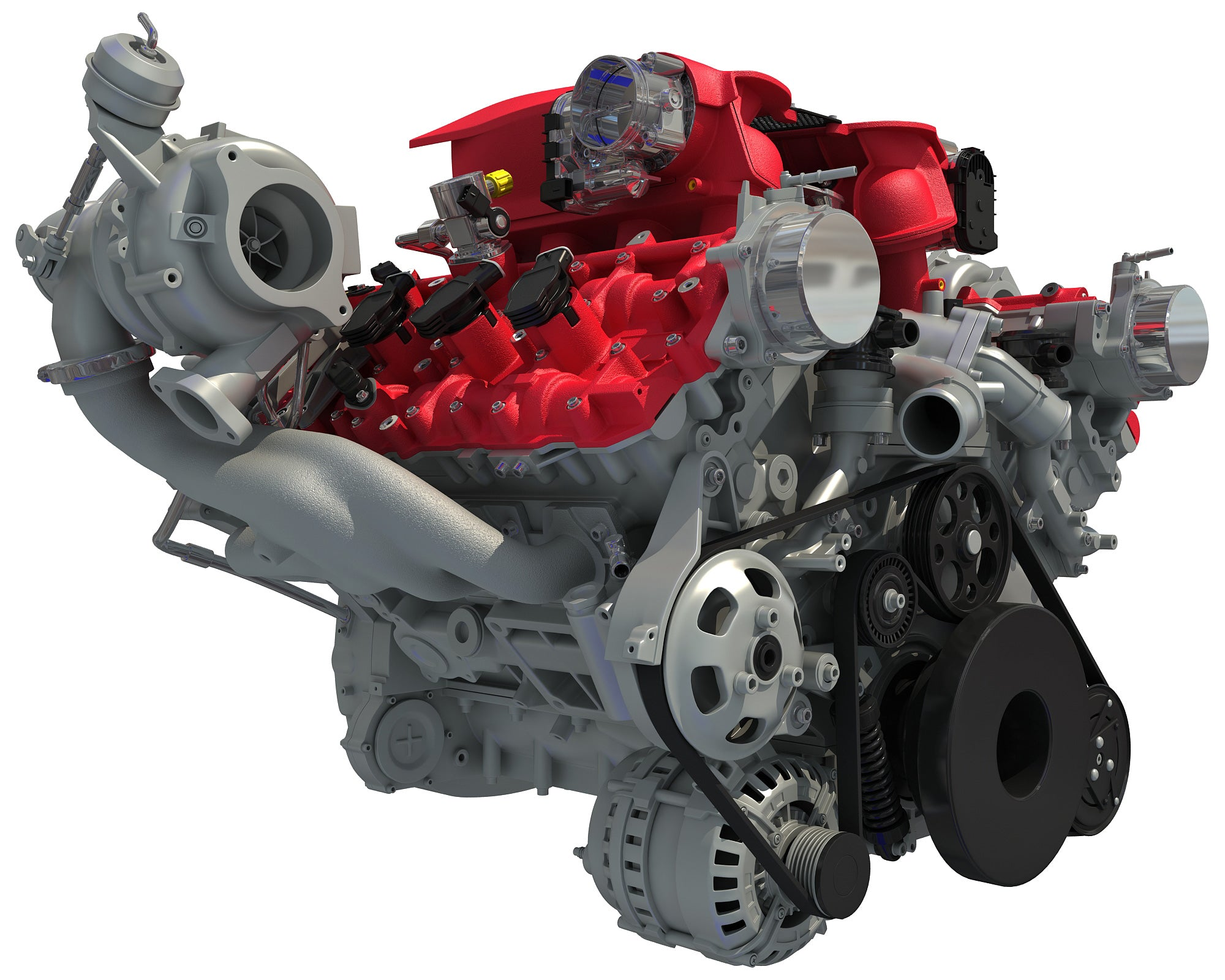 Ferrari Turbocharged V8 Engine