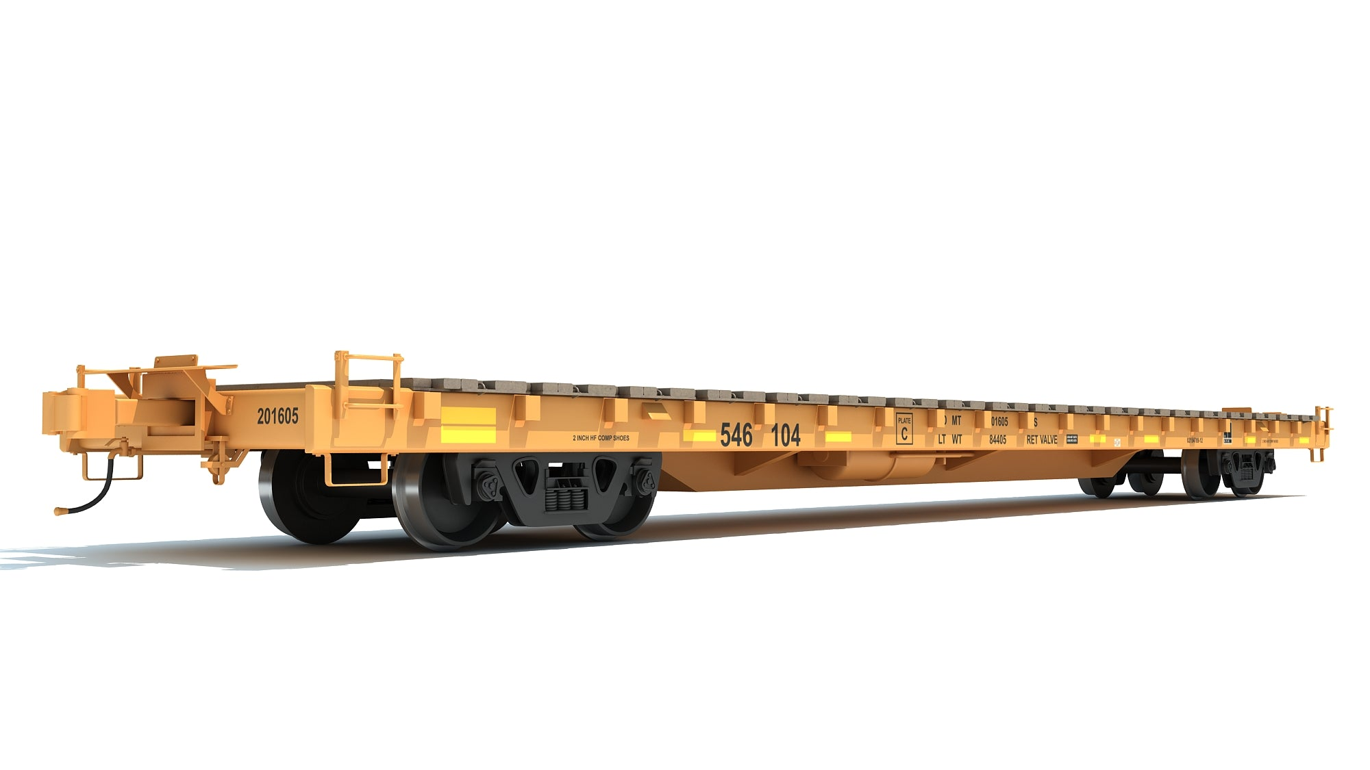 Flat Railroad Car