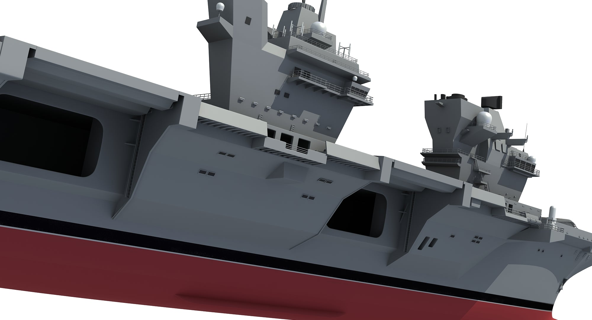 Queen Elizabeth Aircraft Carrier 3D Model