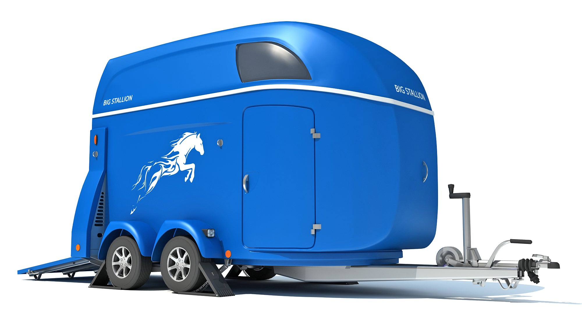 3D Horse Transport Trailer