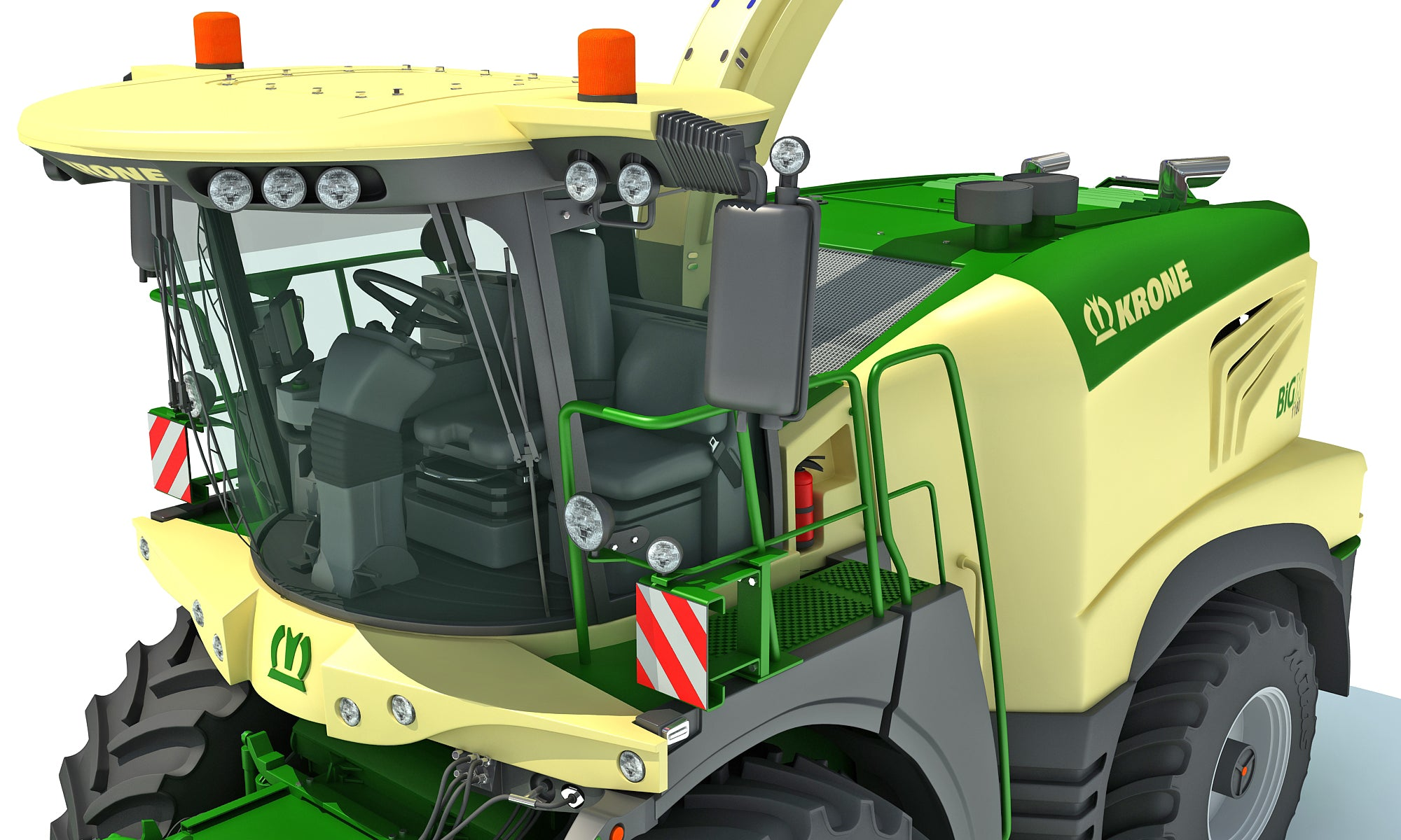 Krone Forage Harvester 3D Model