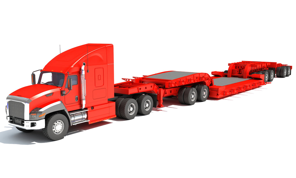 Truck and Lowboy Trailer