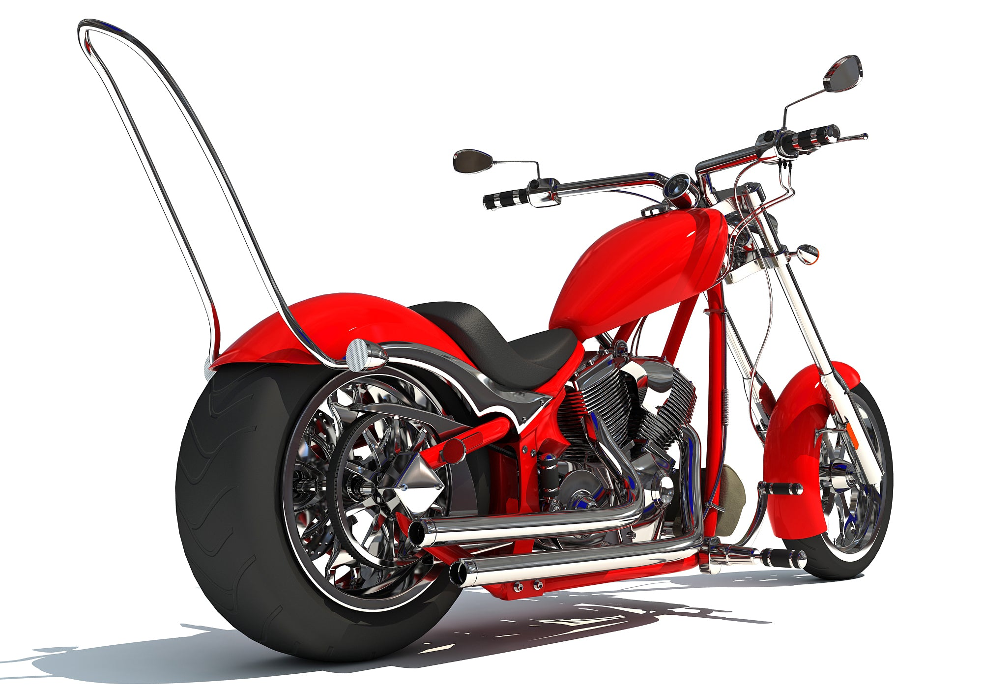 3D Chopper Bike Models