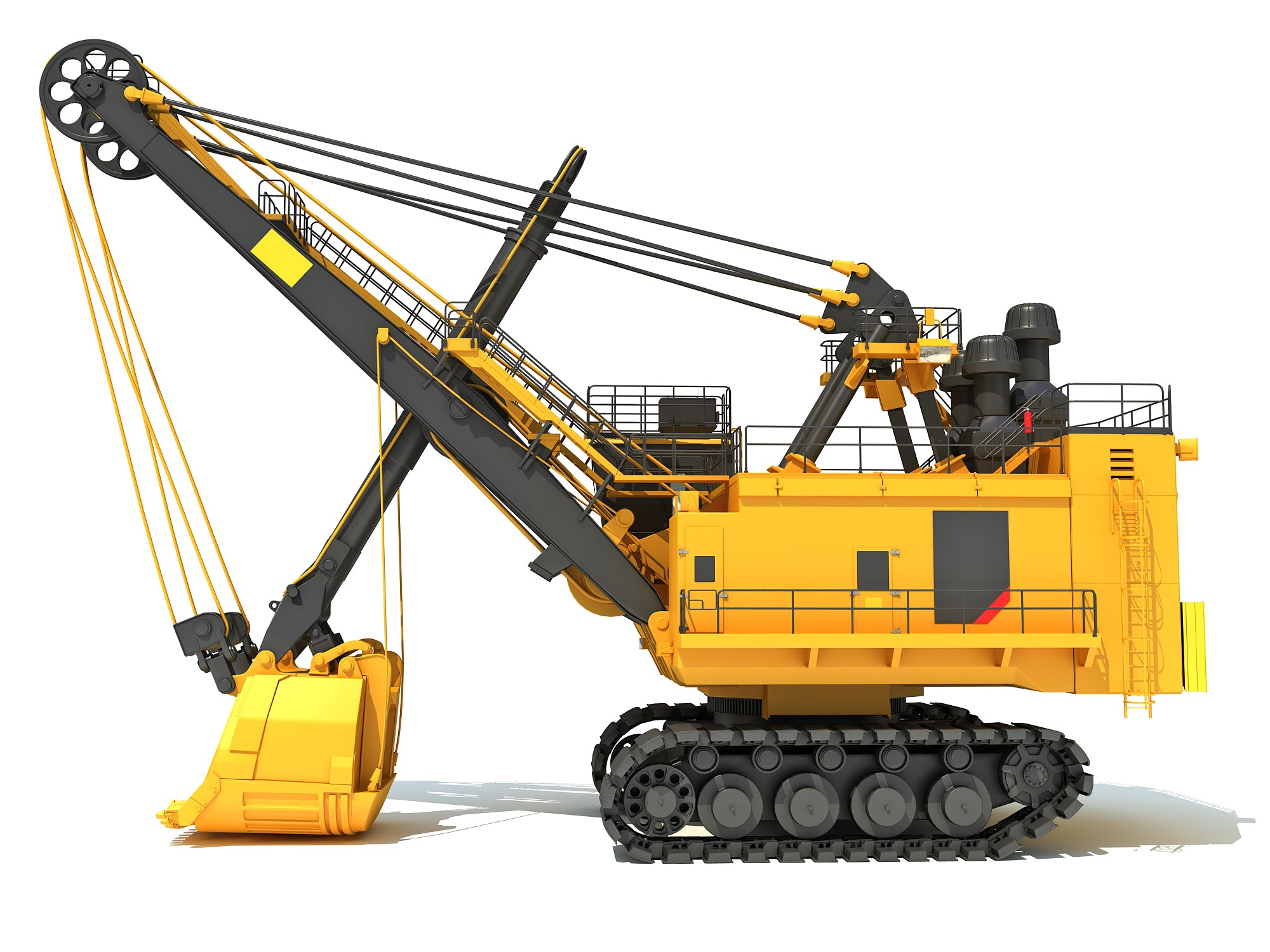 3D Electric Rope Shovel