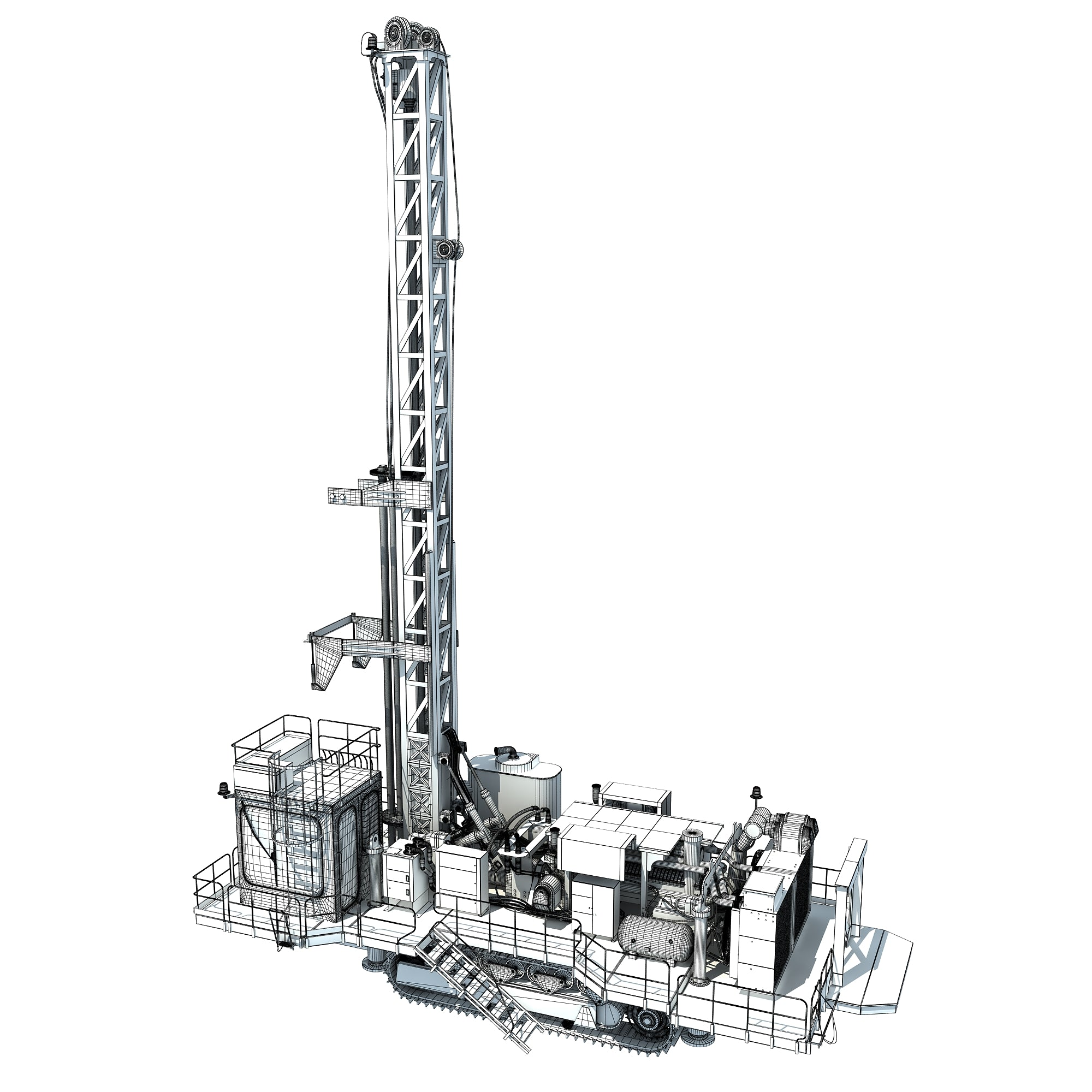 Rotary Drill 3D Model