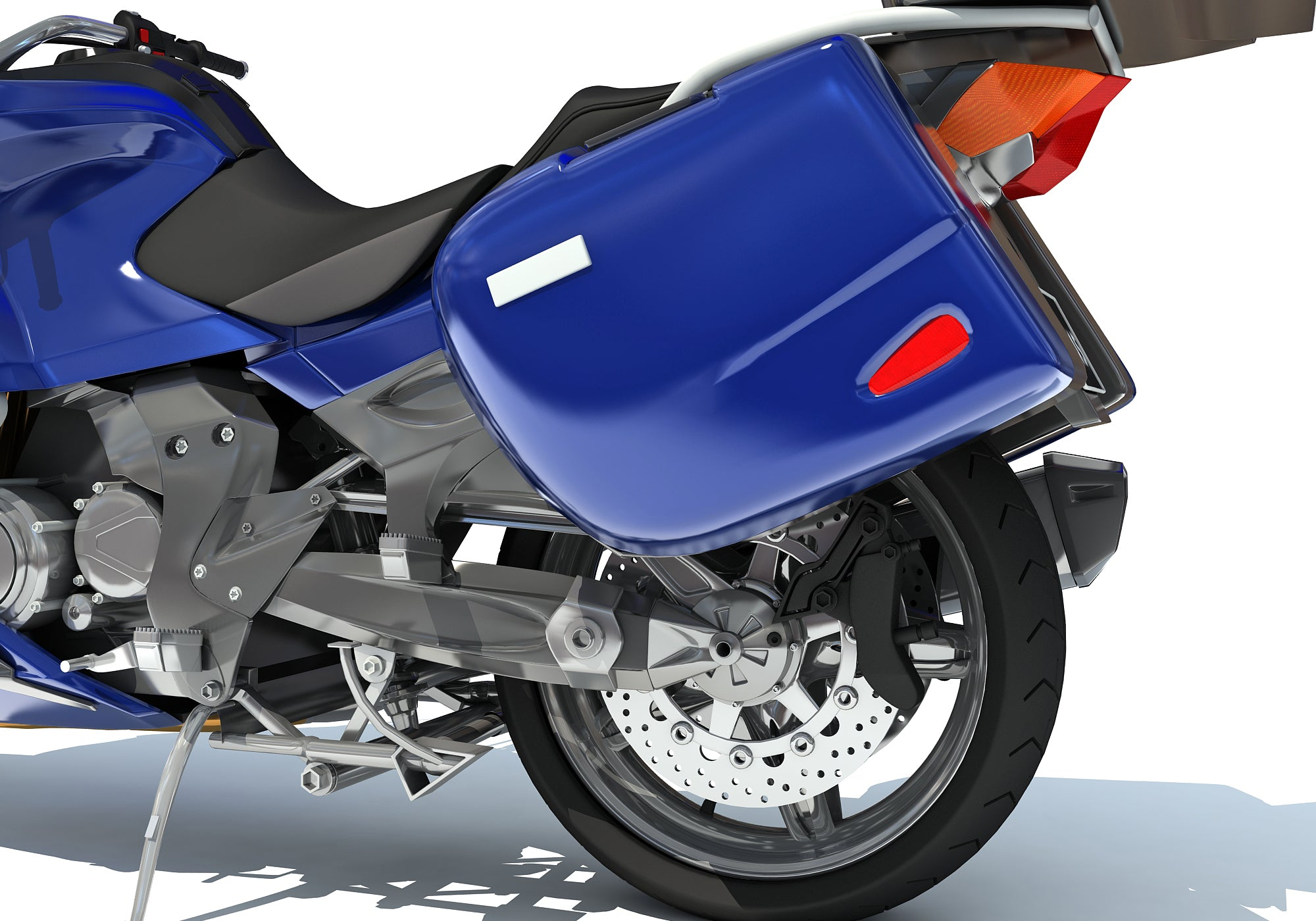 Blue Motorcycle Model