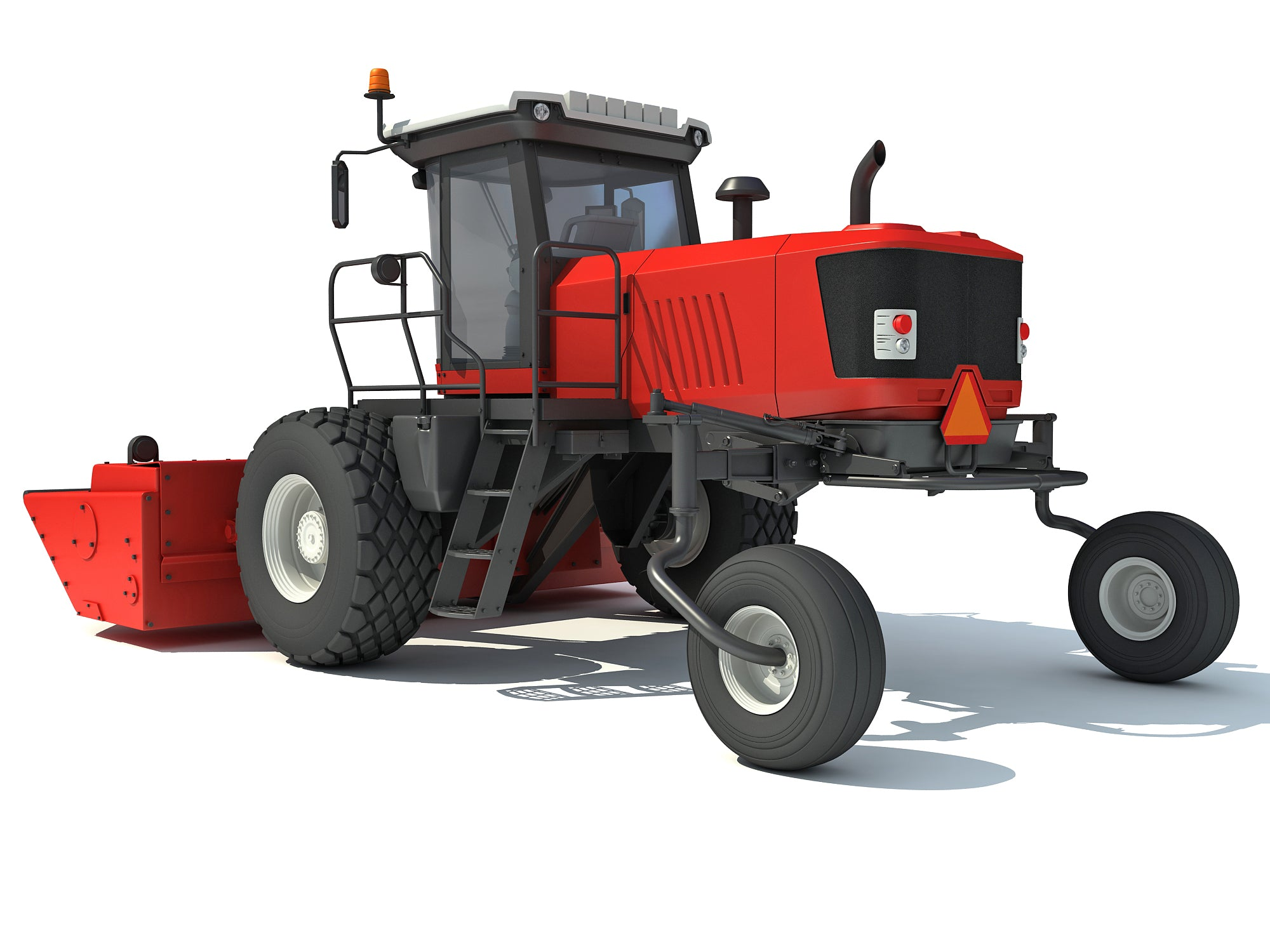 Swather Windrower 3D Model