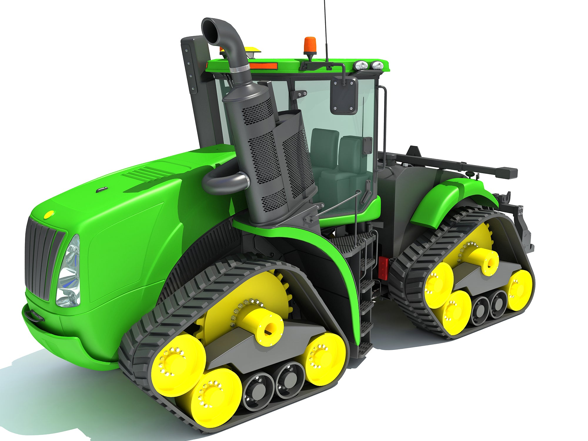 Tractor Tracked Power 3D Models