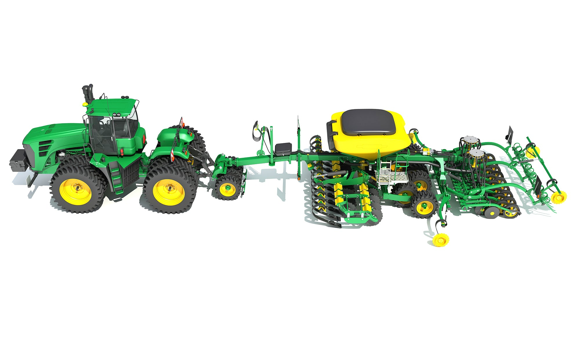 3D Tractor and Seed Drill