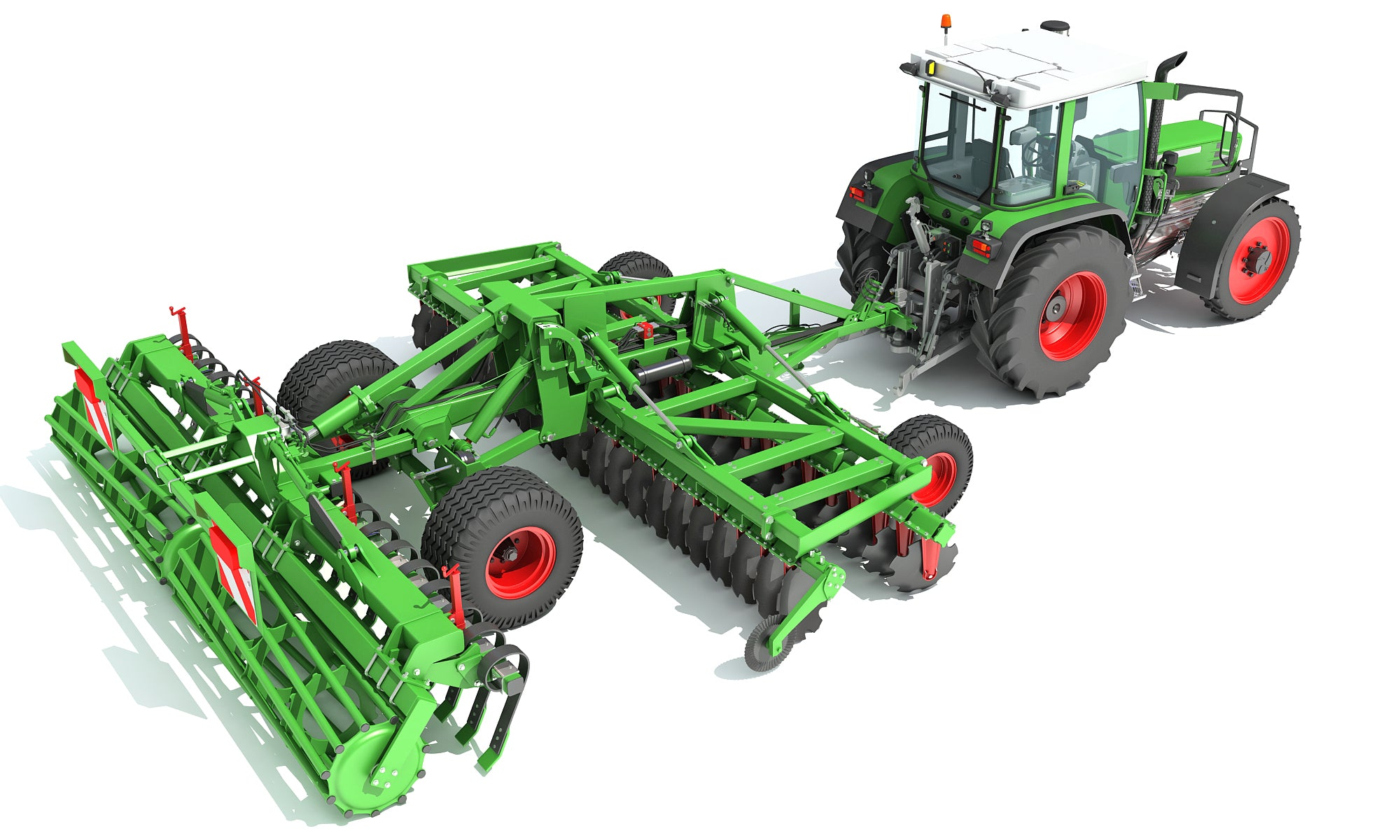 3D Tractor with Disc Harrow