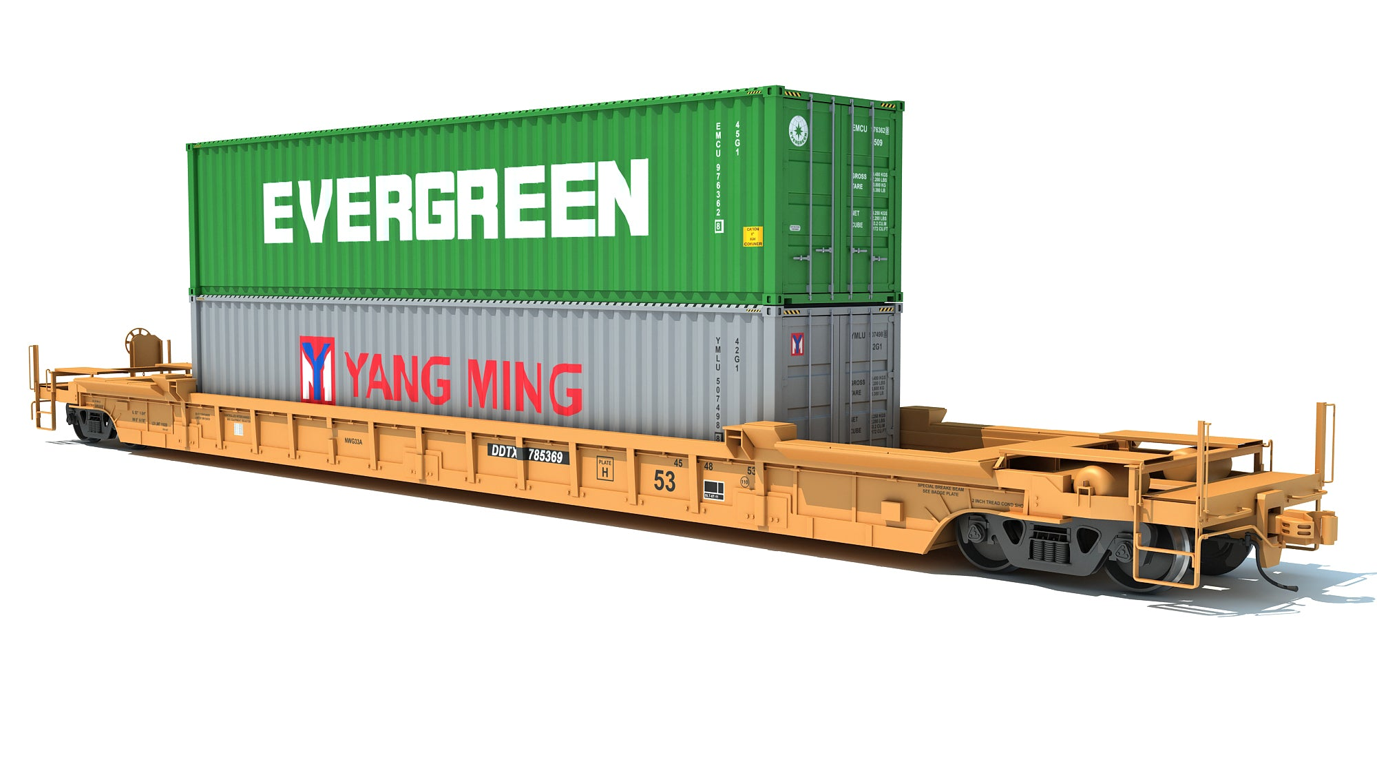 Train Car with Containers