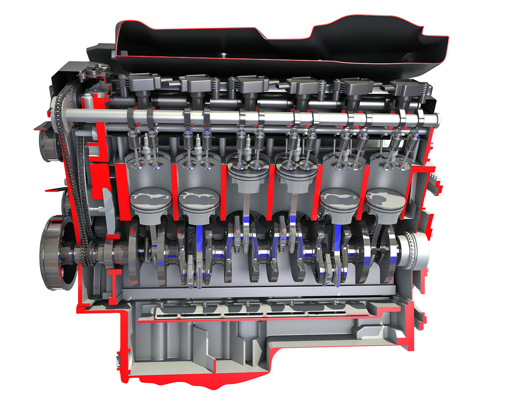 Cutaway Animated V12 Engine