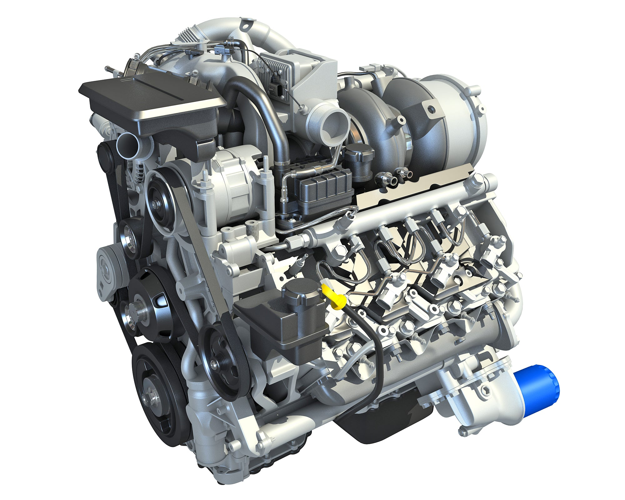 V8 Turbo Engine - 3D Models