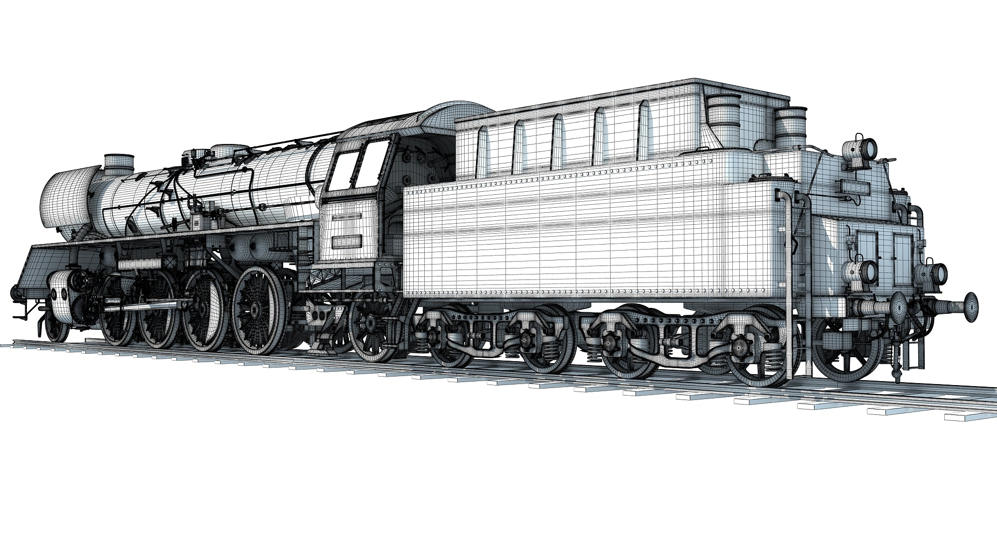 Steam Locomotive 3D Models
