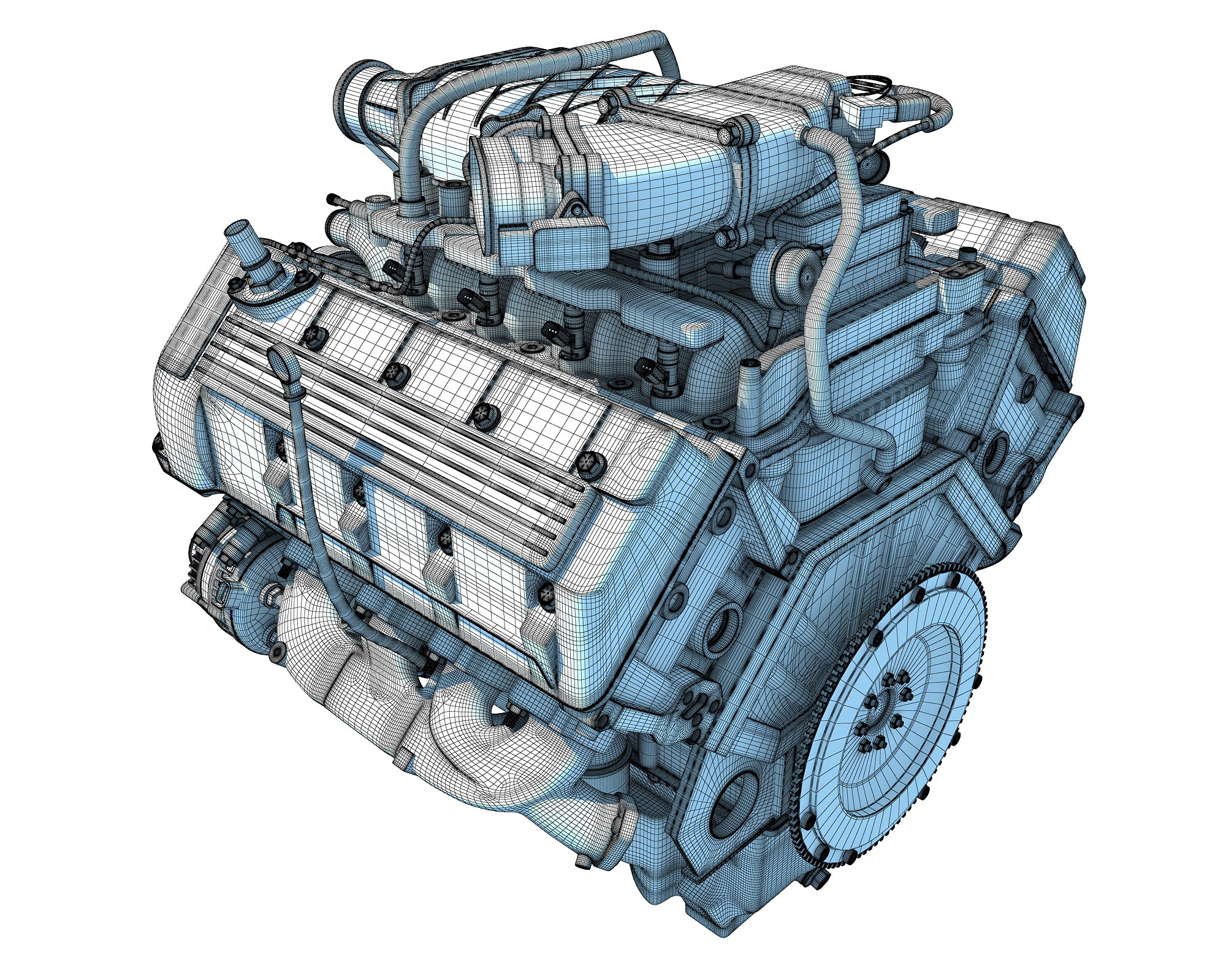 Animated Engine 3D Models