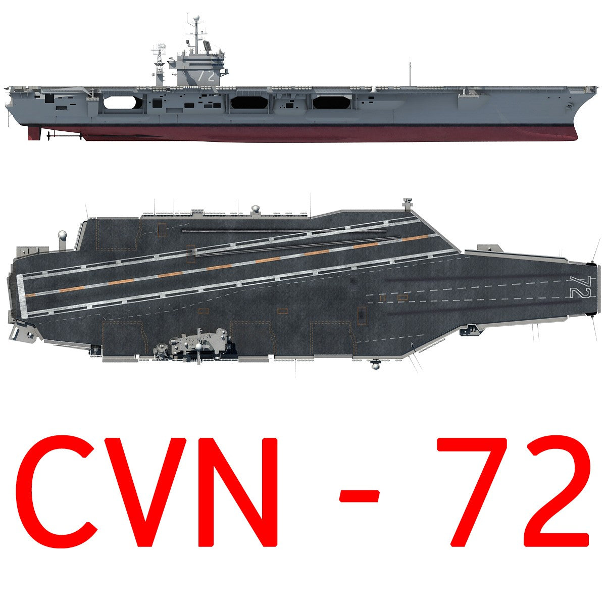 Aircraft Carrier USS Abraham Lincoln 3D Model