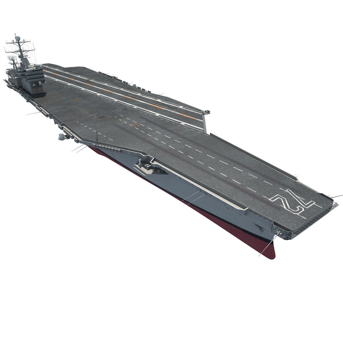Aircraft Carrier Abraham Lincoln 3D Model
