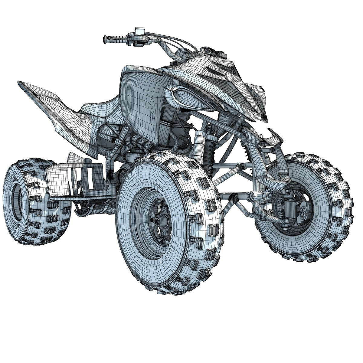 Sport ATV Yamaha Raptor 3D Model