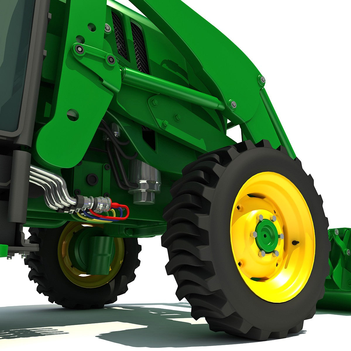 Compact Utility Tractor 3D Model