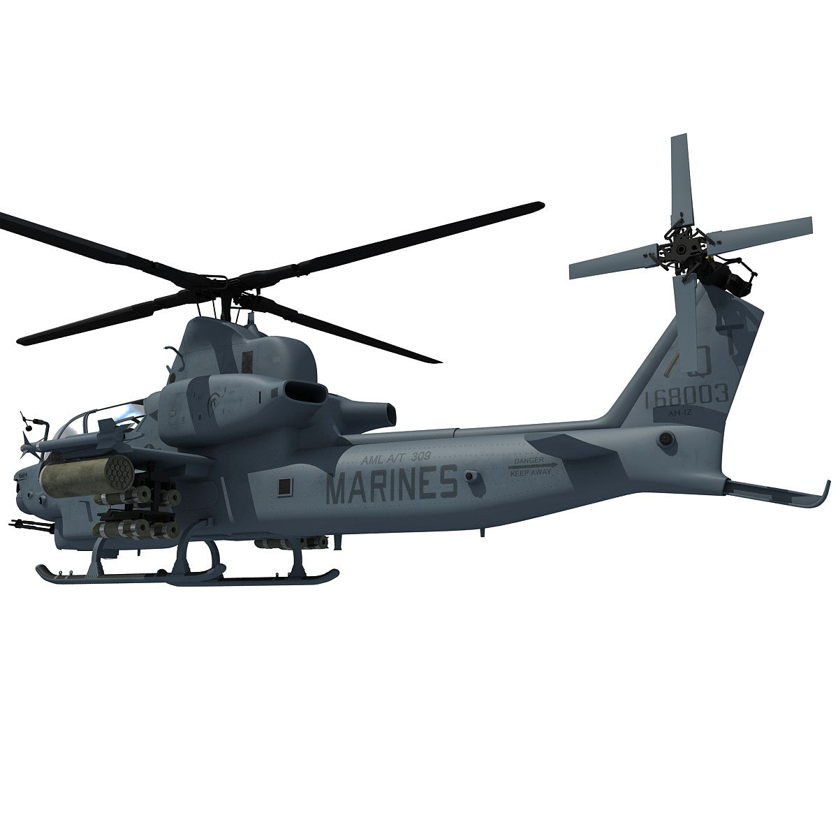 3D Helicopter Bell AH-1Z Viper