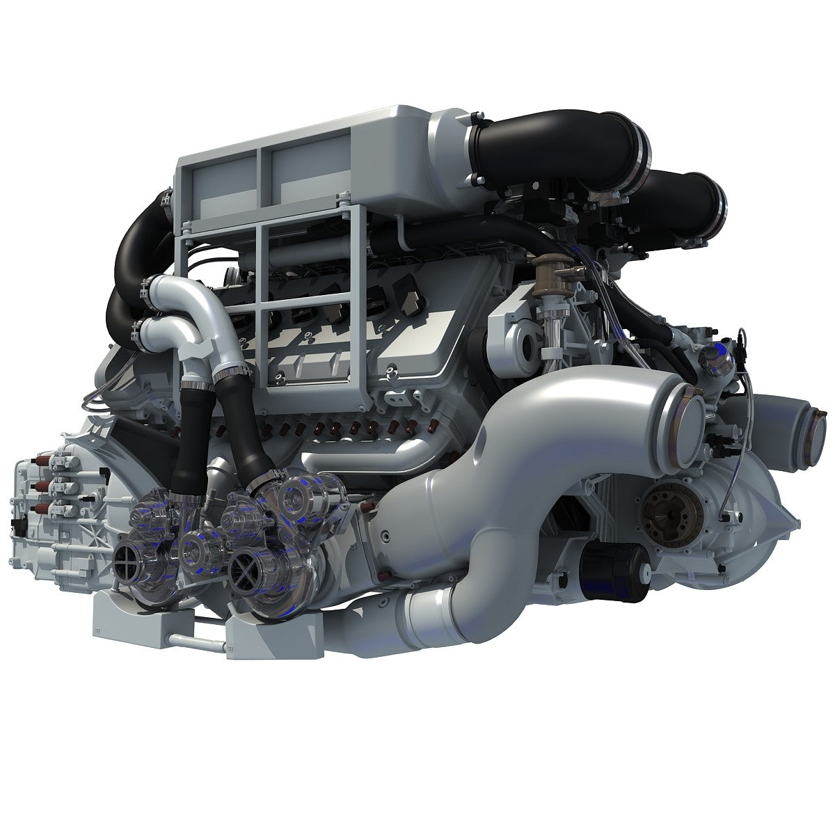 Bugatti Engine 3D Model