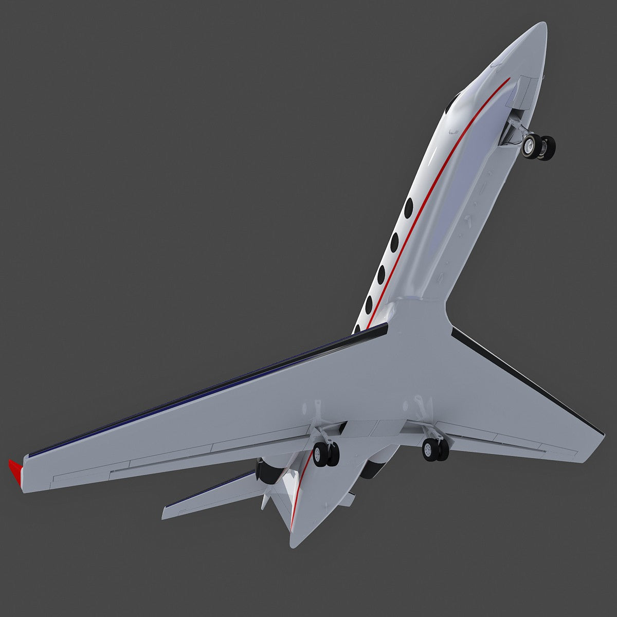 Business Jet Aircraft Gulfstream 3D Model