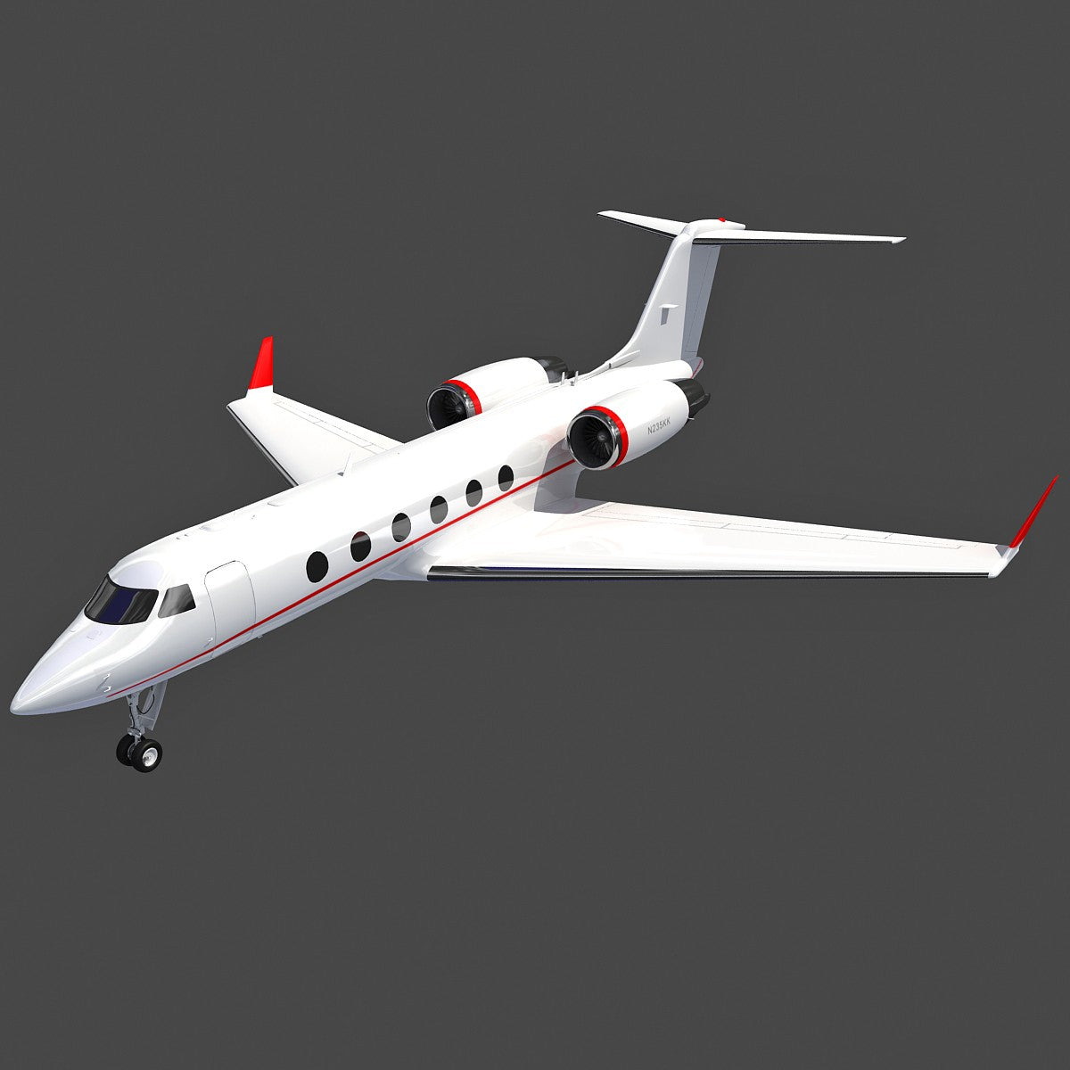 Business Jet Gulfstream 3D Model