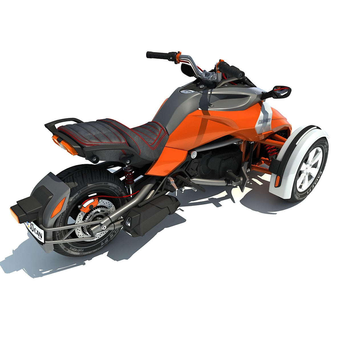 Can-Am Spyder 3 Wheel Motorcycle Model