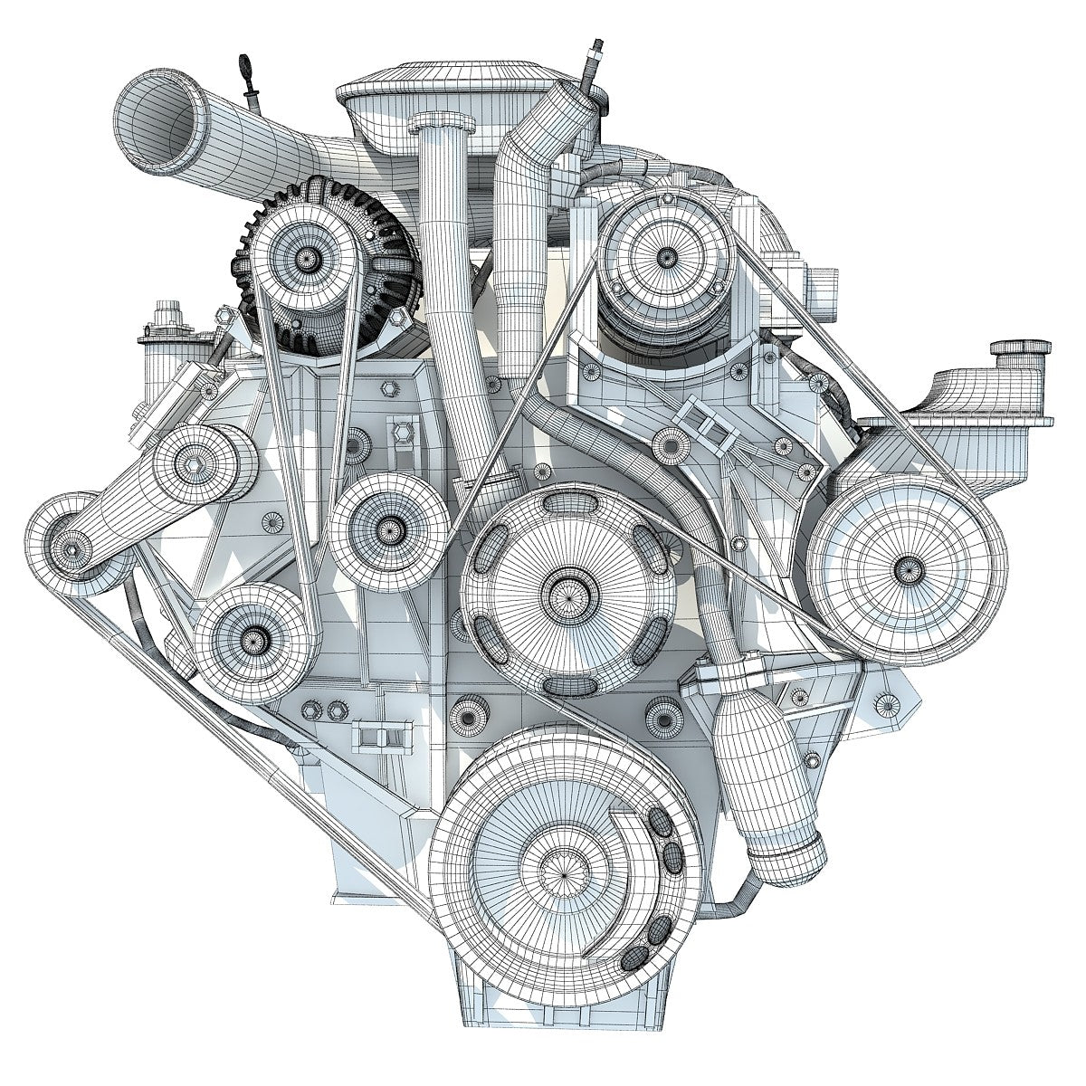 Car Engine 3D Model – 3D Horse