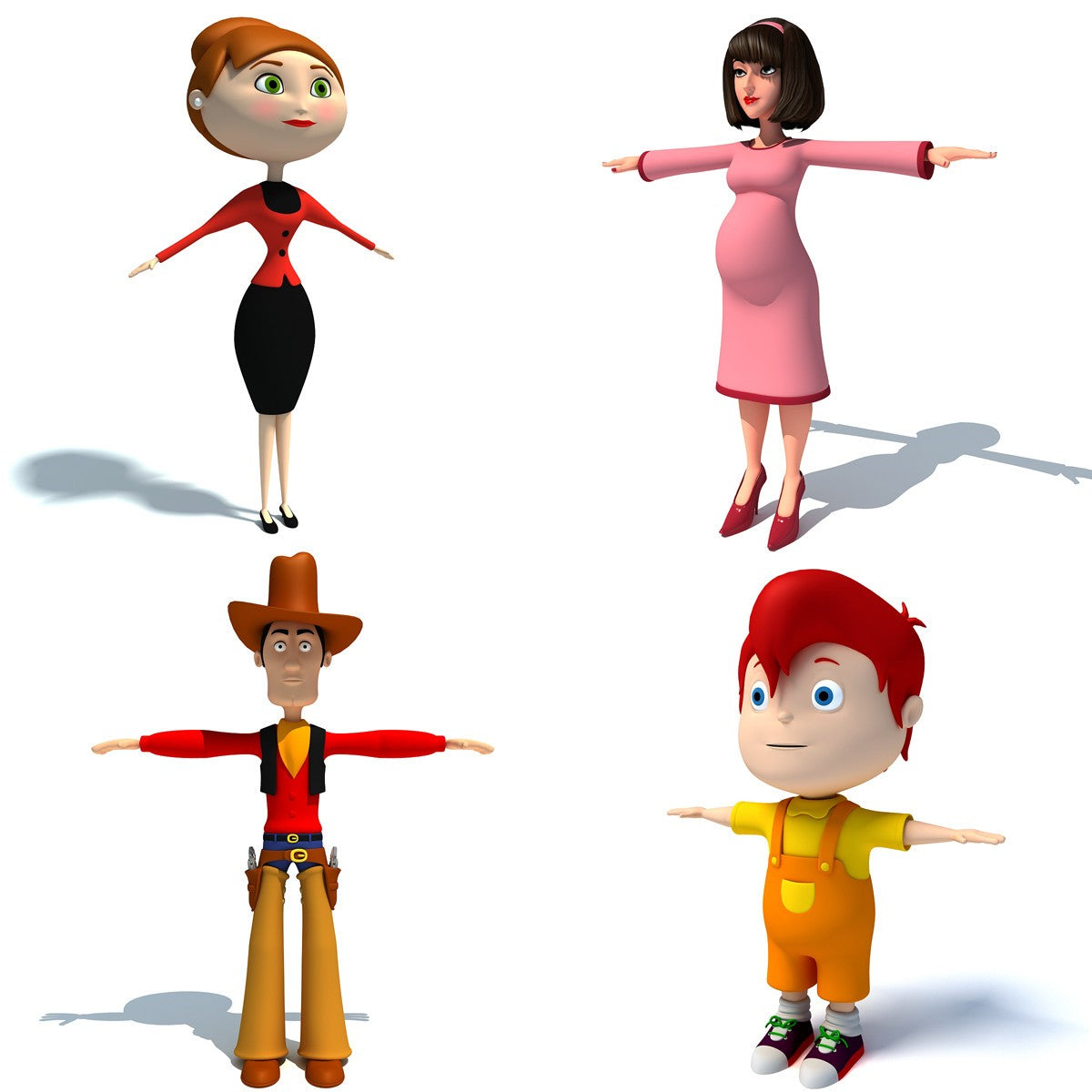 3D Cartoon Characters Models